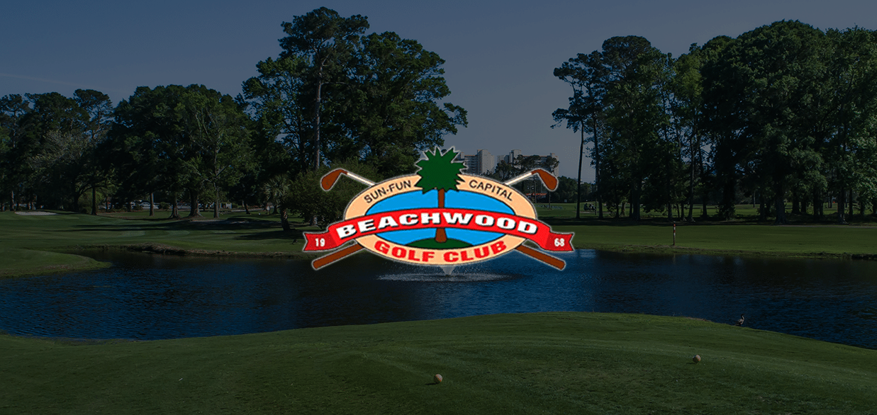 Beachwood logo with course in the background